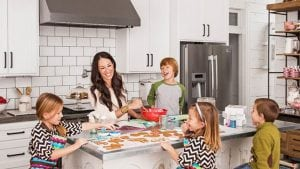 kitchen island with kids