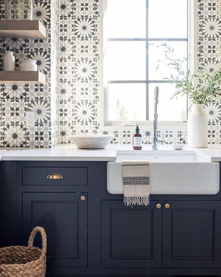 Bold & Patterned Tile Splashback
