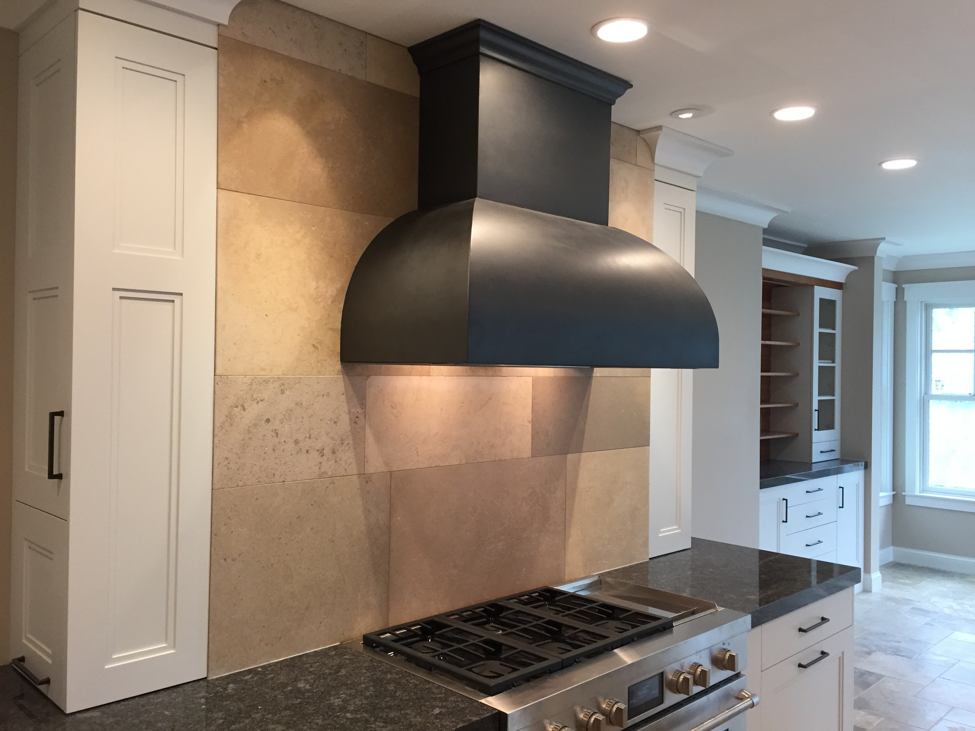 Large Stone Tiled Splashback
