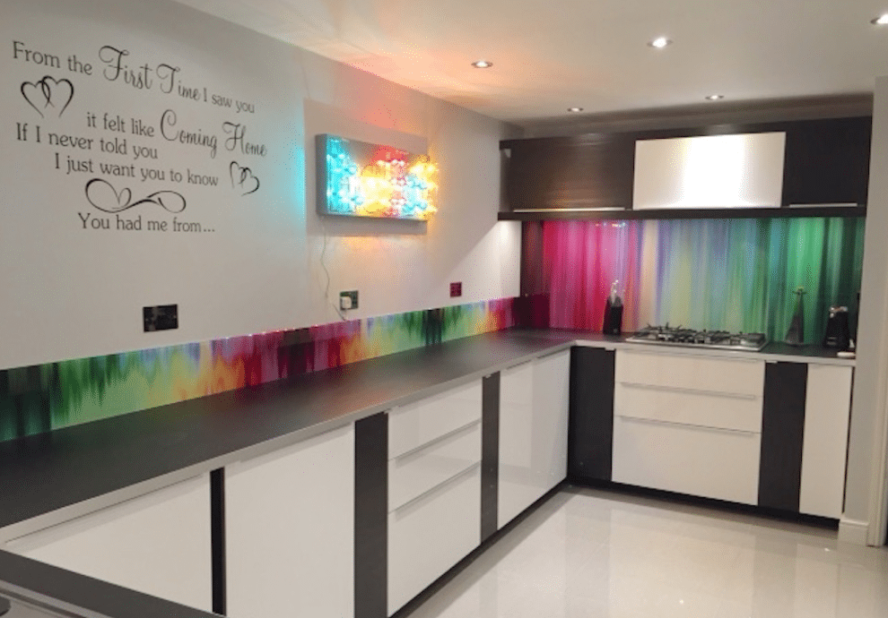 colourful splashback