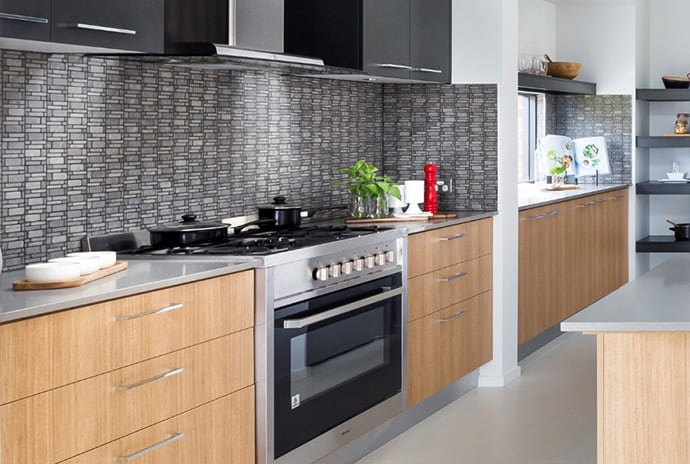 Shades of Grey Tiled Splashback