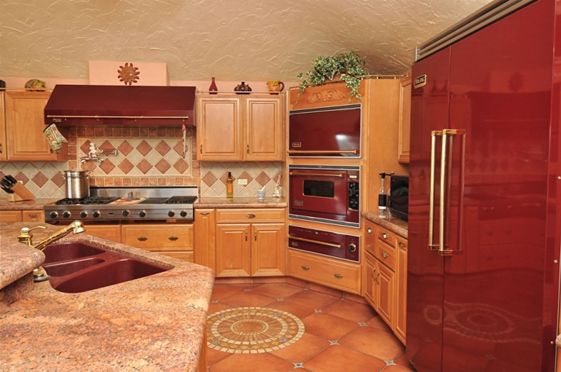 Terracotta Tile Splashback