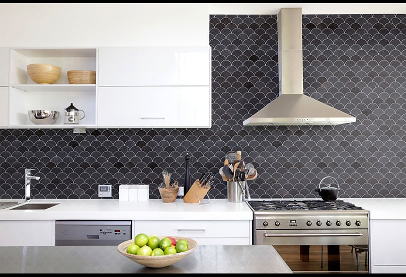 fish scale splashback