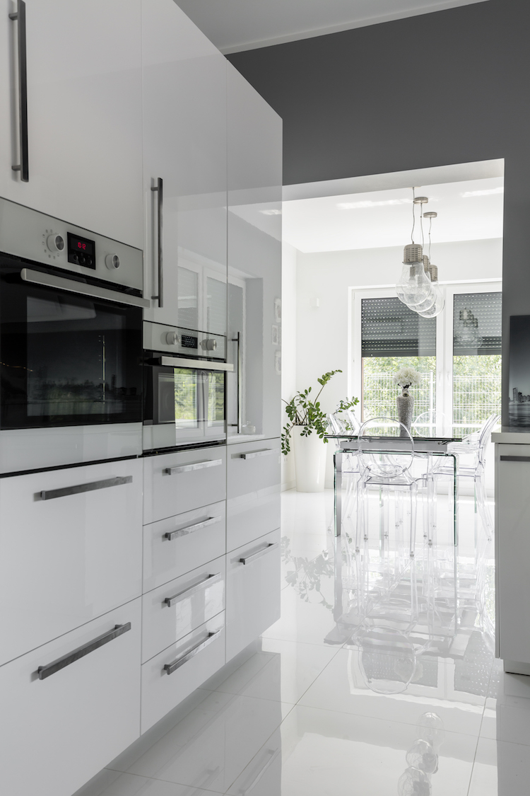 Modernly equipped clean kitchen
