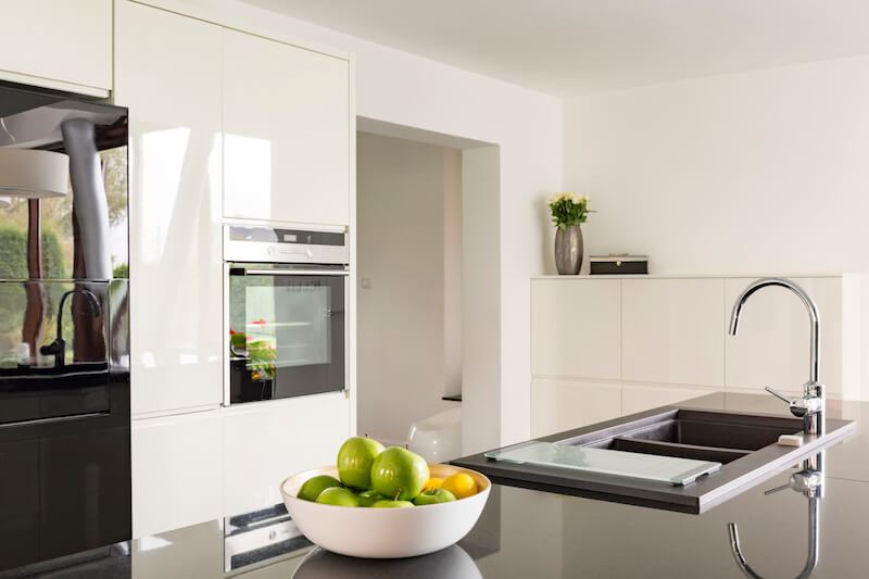 modern futuristic high gloss kitchen